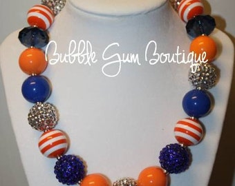 University of Florida Gators Bubble Gum Necklace