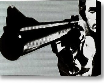Clint Eastwood Big Gun on Stretched Canvas