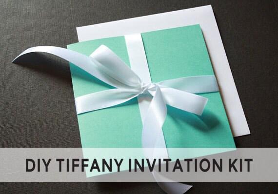 Tiffany Blue Wedding Invitations Kits: NEW DIY Tiffany & Co. Invitation And RSVP Kit By