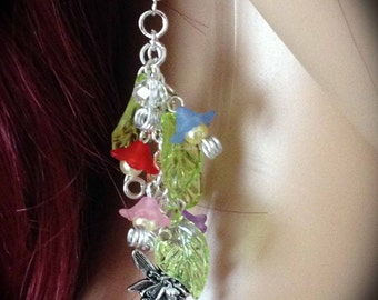 Fairy Flower Earrings - Fae, Sidhe, Pagan, Wicca, Witch, Handmade