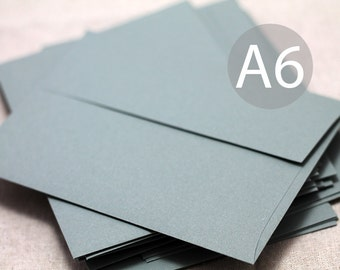 "25 A6 Gray Envelopes - 4x6 envelopes (true size 4 3/4"" x 6 1/2"") - Grey Envelopes"