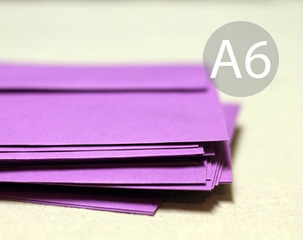 "A6 Radiant Orchid Purple Envelopes - 4x6 envelopes (true size 4 3/4"" x 6 1/2"") - Quantity 25"