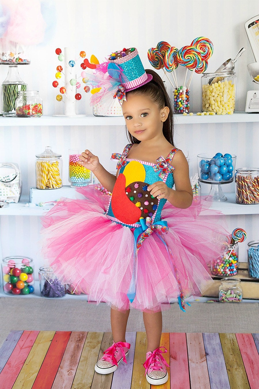 candy crush tutu dresscostume tutu set by