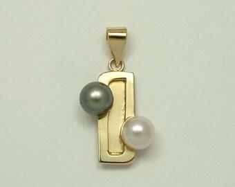 Handmade Gold 18k Pendant with Akoya Pearls (Χειροποίητο Χρυσό 18k Μενταγιόν με Μαργαριτάρια Akoya)