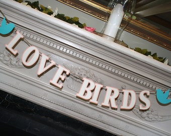 Love Birds Banner - Bridal Shower - Wedding