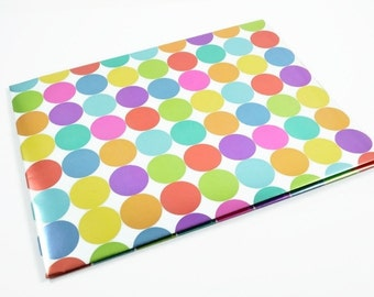 DOTS WRAPPING PAPER - Metallic Mega Dots Folded Wrapping Paper (49.5cm x 70cm)