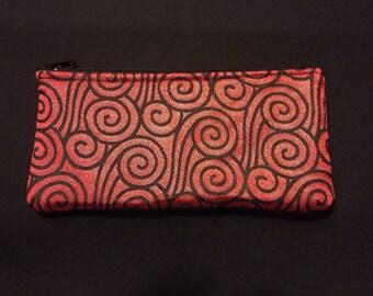 Smoke Swirl Brocade Pencil Case / Zipper Pouch #174