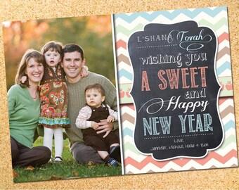 Rosh Hashanah Photo Card - L'Shana Tovah - Customizable - Printable - DIY