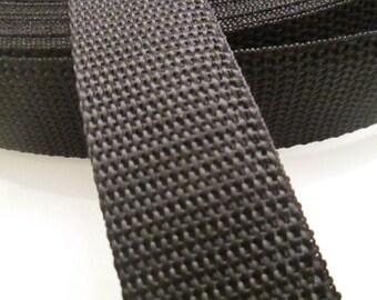 5M Webbing Policotton 31mm Wide Black color