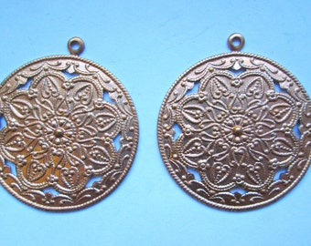 2 Vintage Medallion Stampings