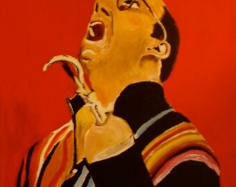 Buster Bluth (From Arrested Development) 10x14 Print of Acrylic Portrait