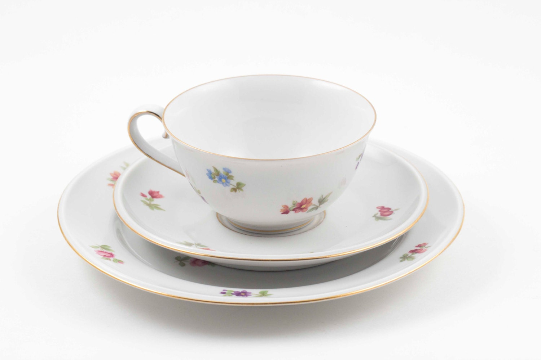 2 available hutschenreuther arzberg bone china teacup saucer. Black Bedroom Furniture Sets. Home Design Ideas