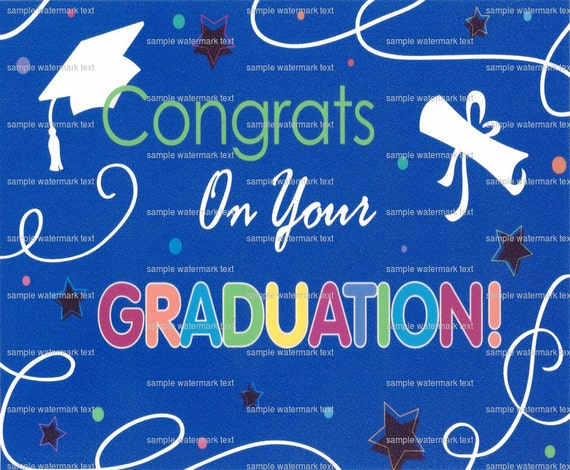 Congrats On Your Graduation - Edible Cake and Cupcake Topper For Birthday's and Parties! - D1376