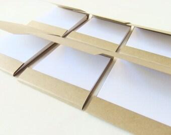 Mini matchbook notepad -Custom matchbook- Personalized matchbook- Wedding matchbook- Baby shower favor- Party favor- 10 Kraft Mini notepad
