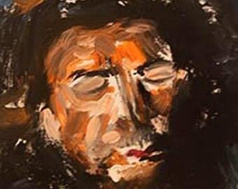 "Original Abstract Portrait 16 x 20"" ""Javier"""