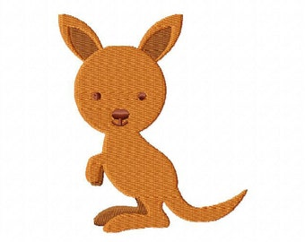 4X4 Kangaroo Machine Embroidery Design Multiple Formats Available - Instant Download