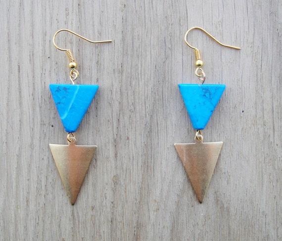 triangle dangle earrings hipster earrings bib earrings. Black Bedroom Furniture Sets. Home Design Ideas
