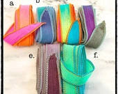 Hand Dyed Silk Ribbon, Silk Wrap Bracelets