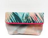 Foldover Clutch »La Palma« with Photo-Print