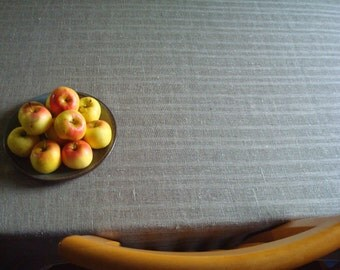 Natural Gray Linen Tablecloth; Ecru Gray Tablecloth; Linen Table Cover; Pure Linen Tablecloth; Rustic Grey Table Cloth; Burlap Tablecloth