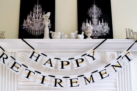 happy retirement banner retirement party sign by