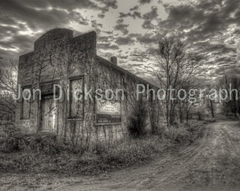Abandoned Country Shop - Fine Art Photography - Black & White