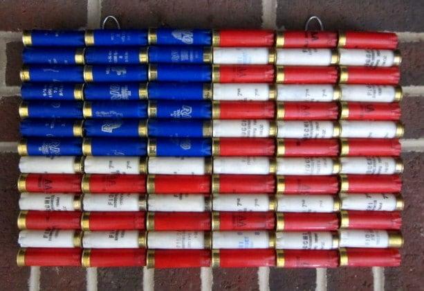 Shotgun Shell American Flag 16 5 X 10 5 Patriotic By