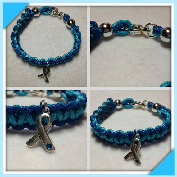 hydrocephalus awareness paracord charm bracelet by