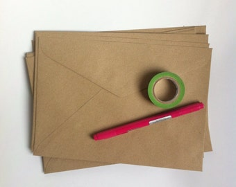 Kraft Envelopes C5 - 25 pcs - brown kraft/invitation envelopes/Eco friendly/recycled paper