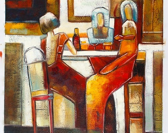 Abstract Conversation -- Original Oil Painting on Canvas -- 20 x 24