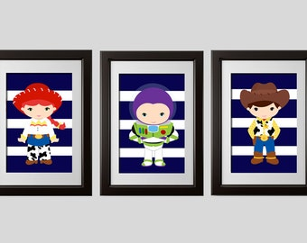 Toy Story Wall Decor Prints Toy Story Bedroom Decor Toy Story Inspired Buzz Woody And