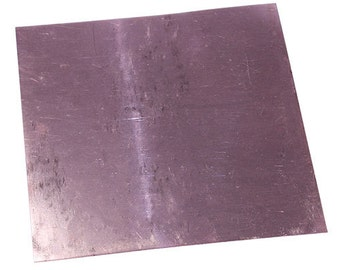 "Copper Sheet 28ga 6"" x 6"" 0.32mm Thick  (CS28-6)"