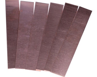 "Copper Strip 18ga 1"" x 6"" 1.0mm Thick (Pkg of 6)  (CS18-1)"