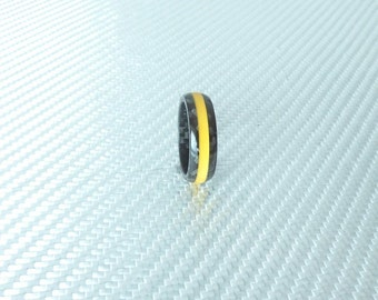 carbon fiber yellow line ring