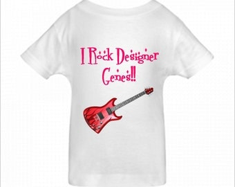 Toddler, Youth, Baby One-Piece- Personalized Gifts- I Rock Designer Genes-BigBoyMusic Designs - White, Blue or Pink One-Piece / Baby T-shirt
