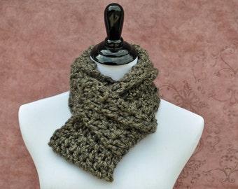 Crochet Infinity - Brown - Scarf
