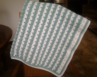 Simply Stripes Baby Blanket / Simply Stripes Baby Afghan / Simply Stripes Baby Lapghan / Simply Stripes Baby Throw