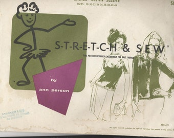 Stretch & Sew by Ann Person Sewing Pattern 300 Ladies Set-In Sleeve Cardigan/Top Size 28-44  Uncut