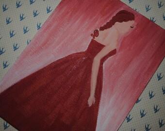 SALE **America Singer Elite, Selection Acrylic Dress Painting