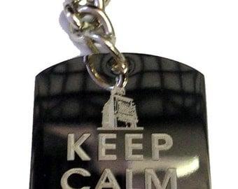 Keep Calm and Travel On Big Ben London - Metal Ring Key Chain TRAVEL BIG BEN