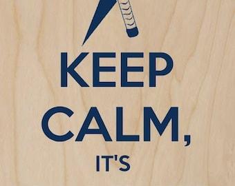 Keep Calm, It's Hammer Time Superhero - Plywood Wood Print Poster Wall Art WP - DF - 0481