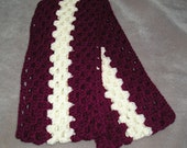 Berry Red and White continuous scarf, Winter Accessories, Valentine Day, Love
