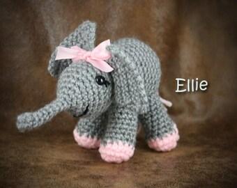 Ellie the Elephant - small, gray, stuffed animal toy