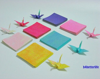 "A Pack of 240 sheets of origami Cranes DIY Paper Folding Kit, size 2""x2"". (RS Paper Series)."