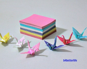 """A Pack of 180 sheets Origami Cranes DIY Paper Kit, 2.5""""x2.5"""" (RS Paper Series)"""