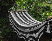 B&W Black and White Hammock