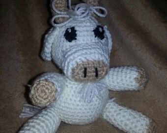 Amigurumi crochet white buffalo