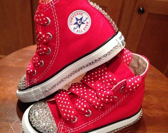 Minnie Mouse Red Bling Converse
