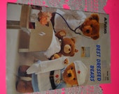 """PAtons Book 290 """"Best Dressed Bears"""" Bear Clothes Knitting Pattern Book"""