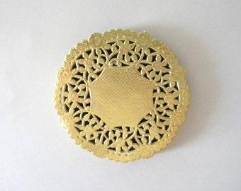 50 Gold Metallic Doilies, Gold Foil Paper Doilies, 4 inch